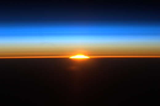 On Saturday, June 11, 2011, International Space Station astronaut Ron Garan used a high definition camera to film one of the sixteen sunrises astronauts see each day.